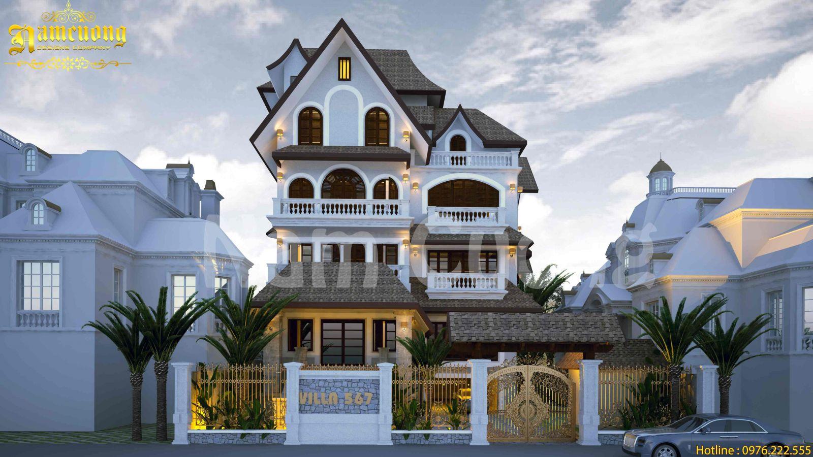 Thiết kế biệt thự tân cổ điển sang trọng và đẳng cấp tại Hà Nội