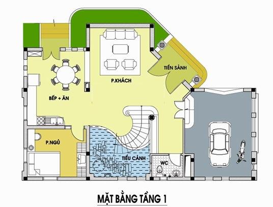 Tư vấn thiết kế biệt thự vườn diện tích 14x12 m