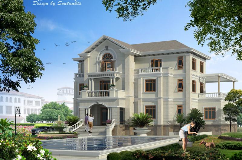 Thiết kế biệt thự phong cách cổ điển-biệt thự cổ điển tại Bắc Ninh
