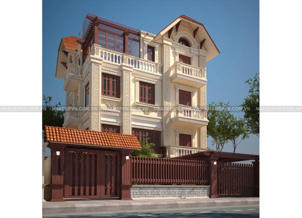 Thiết kế biệt thự cổ điển diện tích 83m2