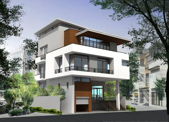 Thiết kế biệt thự 3 tầng diện tích sàn 102-108m2 phong cách hiện đại