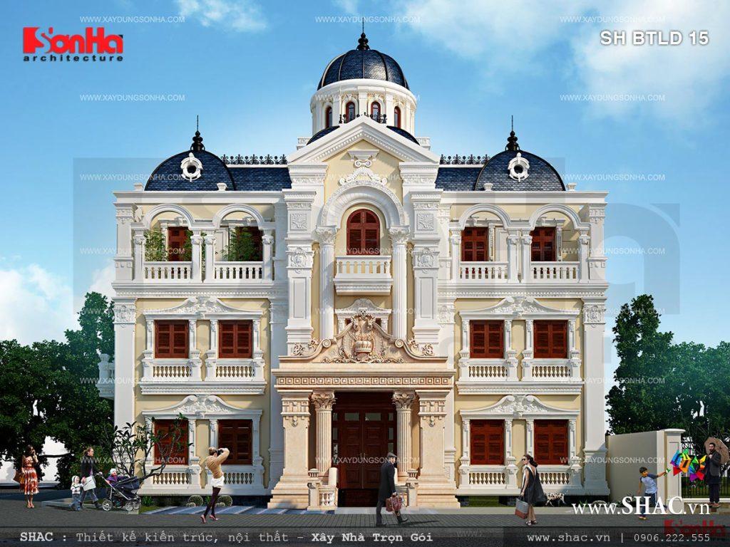 Những mẫu thiết kế biệt thự lâu đài Pháp sang trọng và ấn tượng của Sơn Hà