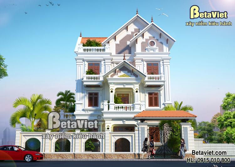 Thiết kế biệt thự 3 tầng kiểu pháp - BTP33
