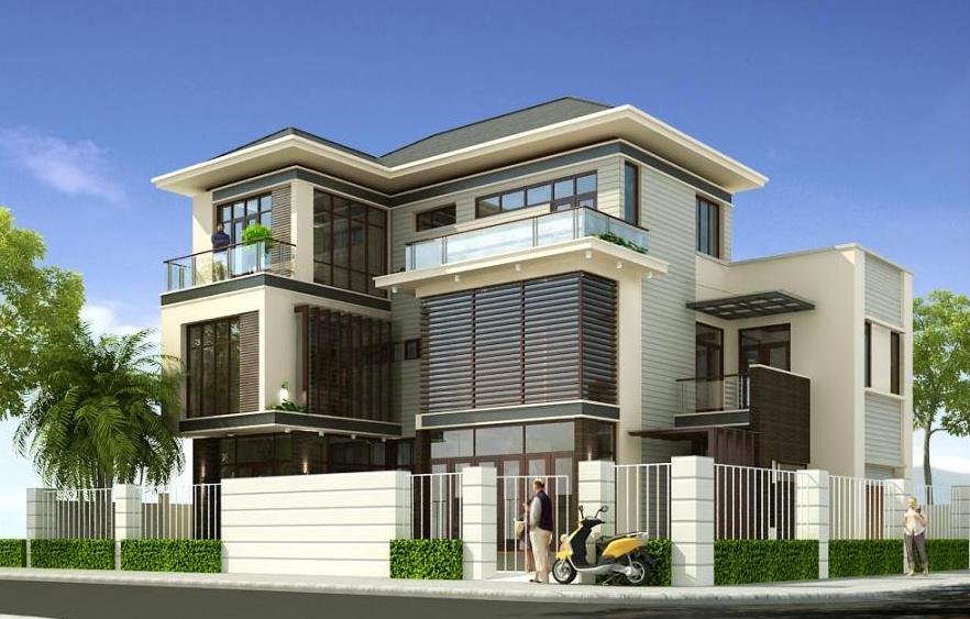 Thiết kế biệt thự phố tại Hà Đông - Hà Nội