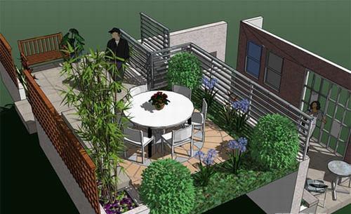 Không gian xanh: Tạo khu vườn xanh mát trên sân thượng