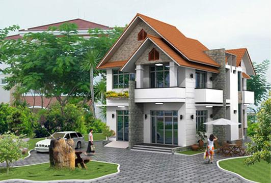 Thiết kế nhà đẹp mẫu nhà 2 tầng, 1 tum diện tích 400m2