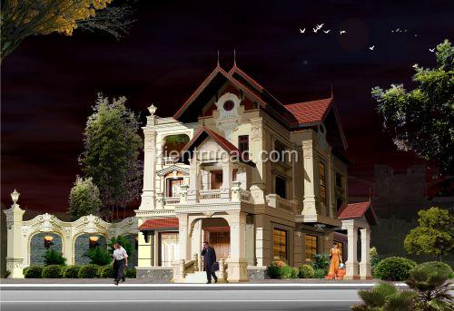 Thiết kế biệt thự phong cách cổ điển tại Hưng Yên
