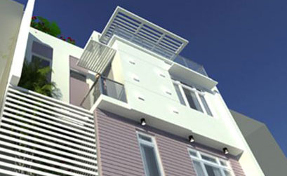 Thiết kế nhà phố 3 tầng trên đất 8x10,5m