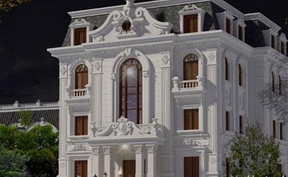 Mẫu biệt thự tân cổ điển 3 tầng - BT024
