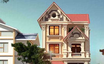 Thiết kế biệt thự cổ điển 8x14m