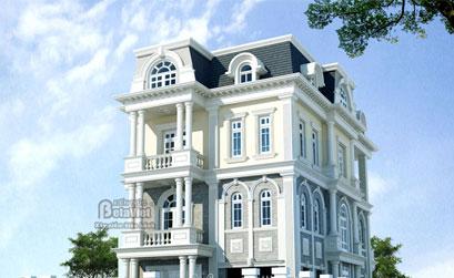 Thiết kế biệt thự 3 tầng theo kiến trúc Pháp