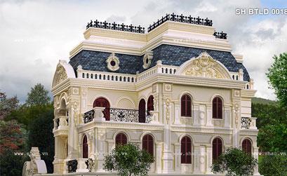 Mẫu thiết kế biệt thự lâu đài - 03