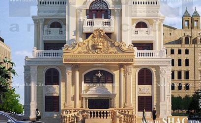 Mẫu biệt thự 5 tầng kiểu cổ điển cuốn hút