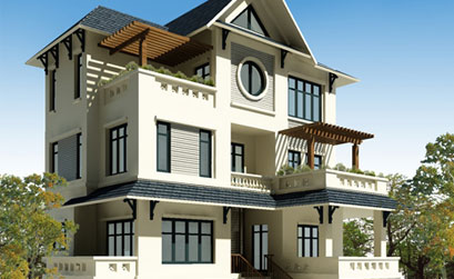 Mẫu nhà biệt thự cổ điển kiểu pháp 3 tầng