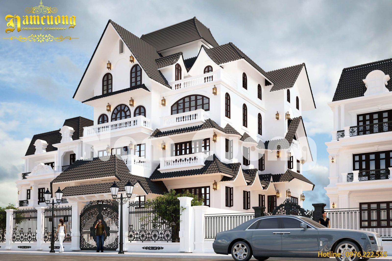 Thiết kế Biệt thự tân cổ điển tại Hải Phòng năm 2017