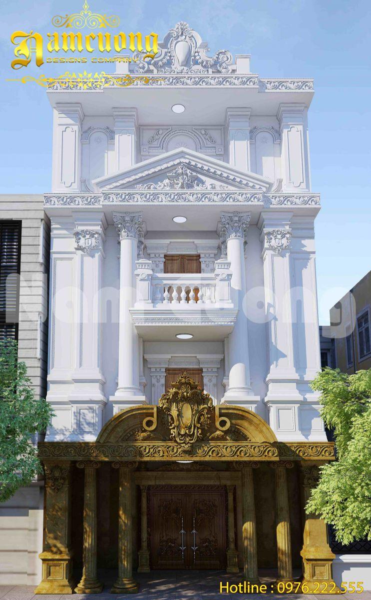Thiết kế biệt thự cổ điển đẹp: Biệt thự cổ điển kiến trúc pháp tại Tiền Giang