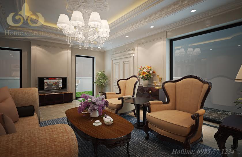 Thiết kế nội thất tân cổ điển biệt thự Vinhomes Riverside