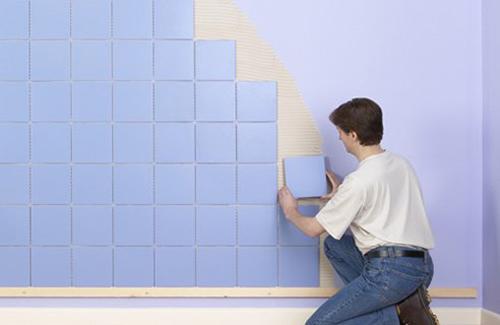 Lưu ý cần biết khi ốp tường bằng gạch kính màu