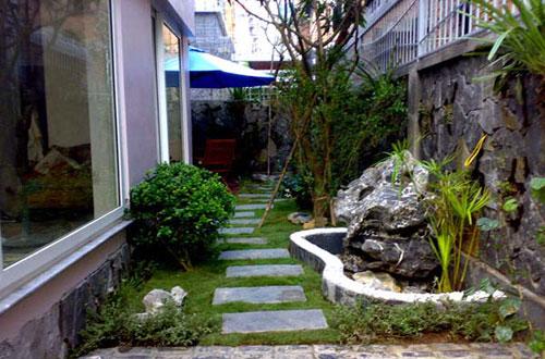 Thiết kế sân vườn-Sân vườn đẹp cho nhà phố
