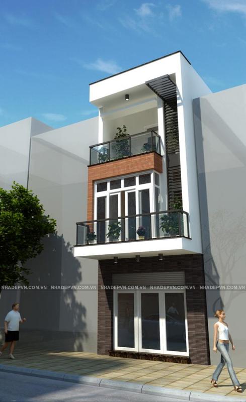 Thiết kế nhà đẹp - Mẫu thiết kế nhà lô phố diện tích 81m2