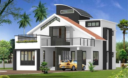 Thiết kế nhà đẹp- Mẫu nhà 2 tầng đẹp sang trọng