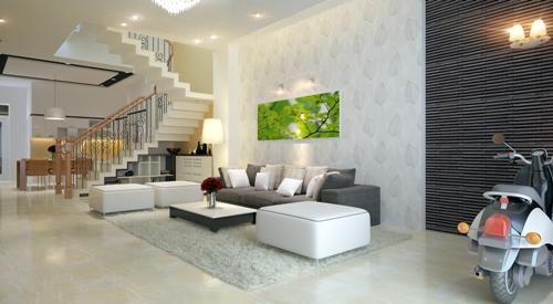 Thiết kế nhà 4 tầng theo phong cách hiện đại