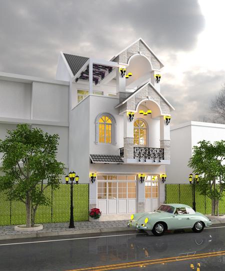 Thiết kế nhà 3 tầng diện tích 120m2