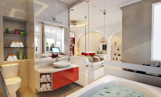 Phòng tắm vách kính trong suốt