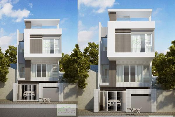 Tư vấn thiết kế nhà 2 tầng diện 6x14m mái thái