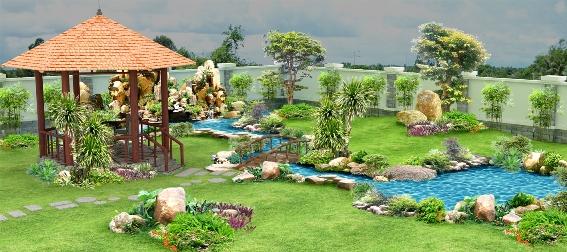Thiết kế sân vườn mẫu sân vườn 01
