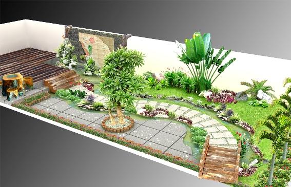 Thiết kế sân vườn mẫu sân vườn 02