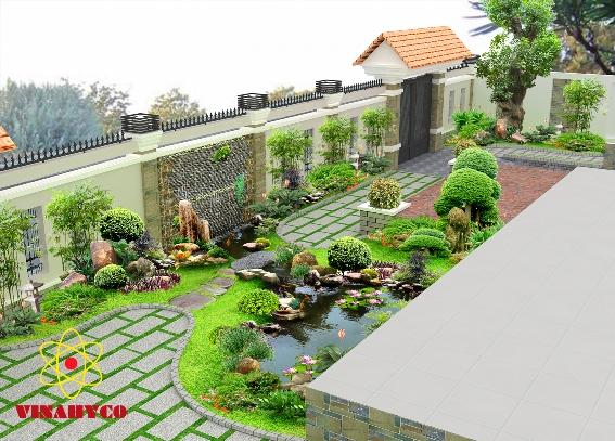 Thiết kế sân vườn mẫu sân vườn 03