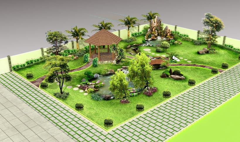 Thiết kế sân vườn mẫu sân vườn 04