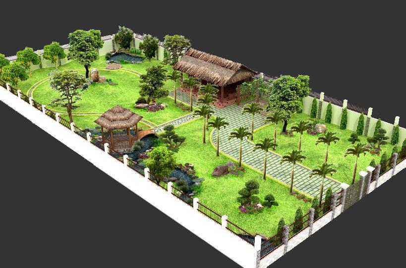 Thiết kế sân vườn mẫu sân vườn 05